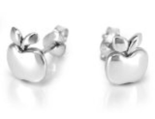 Bat Mitzvah Gifts: Tiny Apple Post Stud Earrings